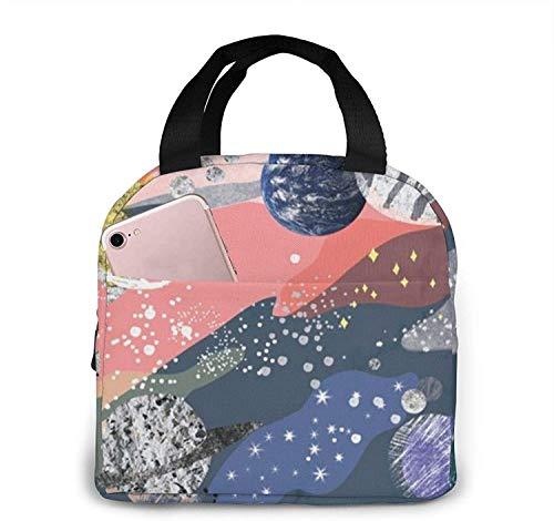 Planet Lunch Bag Tote Bag Lunch Box Recipiente de almuerzo aislado para mujer Hombre
