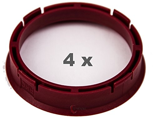 4 x pneugo! Bagues de centrage pour jantes alu 66.45 mm - 57.1 mm
