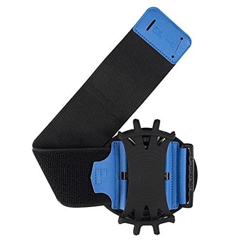 HNZNCY Muñequera giratoria extraíble para teléfono deportivo Running Wrist Bag Generation Driving Takeaway Navegación Arm Bag Fitness Ciclismo Trave (azul)