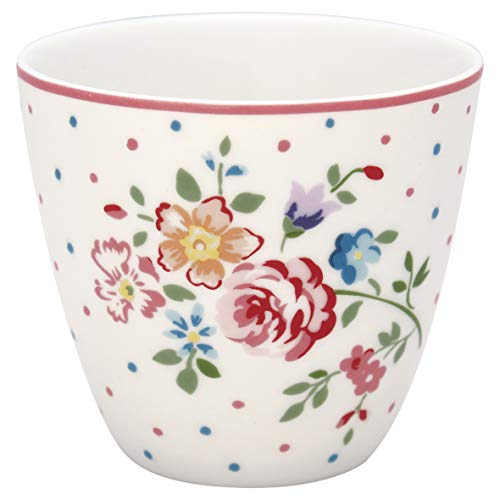 GreenGate - Tasse, Latte Cup - Belle - White - Porzellan - 300 ml