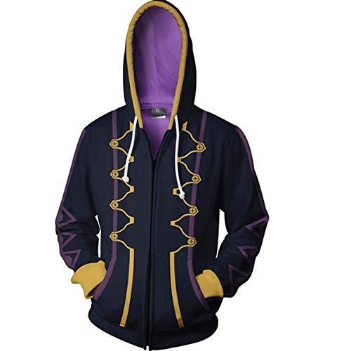 Nsoking Fire Emblem 3D Printed Awakening Heroes Robin Daraen Cosplay Hoodie Thin Jacket (Large, 01 Black)