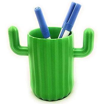 Cactus Pen Pot Holder Office Green Desk Organiser Desktop Pen Holder Access J3A9