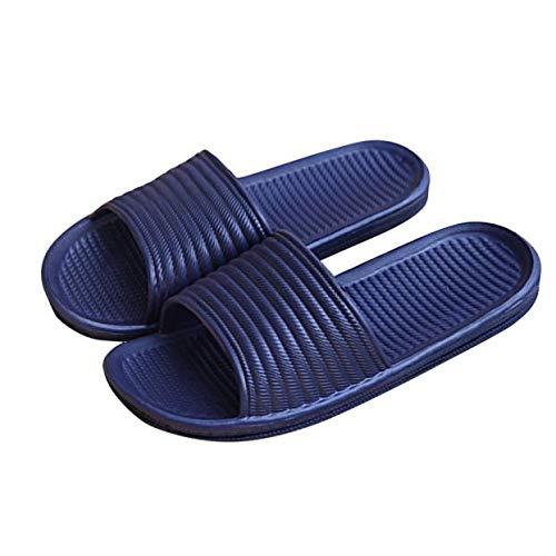 Fitzac casa de interior baño sandalias y zapatillas 2021 verano deportes al aire libre descalzo zapatos de los hombres de secado rápido zapatos de baño, azul marino, 43
