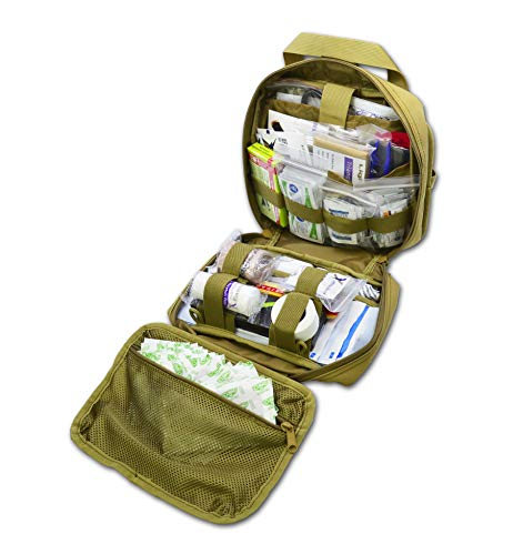 Lightning X Premium Rip-Away Individual First Aid Kit for Vehicle Head Rest - TAN