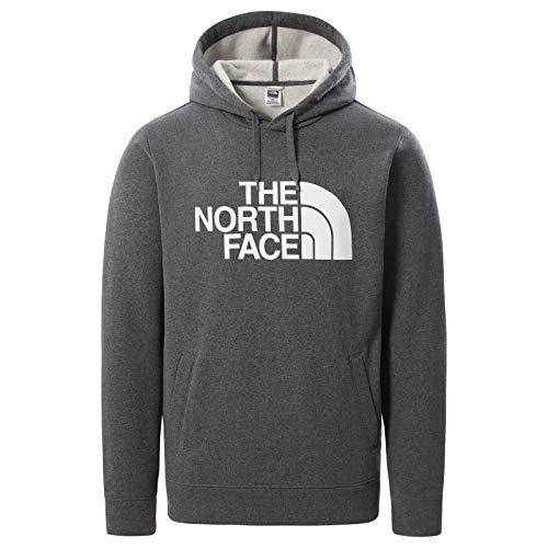 The North Face – Felpa con Cappuccio a Manica Lunga da Uomo Half Dome - Medium Grey Heather, M