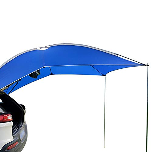 Esplic Toldo Impermeable para Coche Sun Shelter, Tienda De Toldos con Toldo Portón Trasero SUV Portátil, 5-6Persons Peso Ligero Multifunción Auto Canopy Camper Trailer Sun Shade