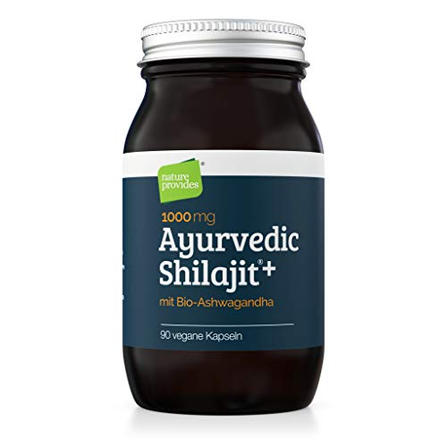 Ayurvedic Shilajit (1000mg) and Organic Ashwagandha Root, 90 High Strength Capsules - Fulvic Acid, Mineral Rich Ayurvedic Supplement for Stress and Energy. Vegan & GMO-Free. Natural & Pure UK