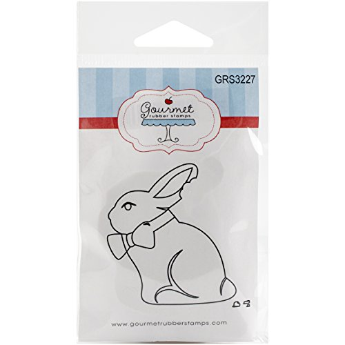 Gourmet Rubber Stamps Cling Chocolate Bunny Stamps, 2.75 x 4.75