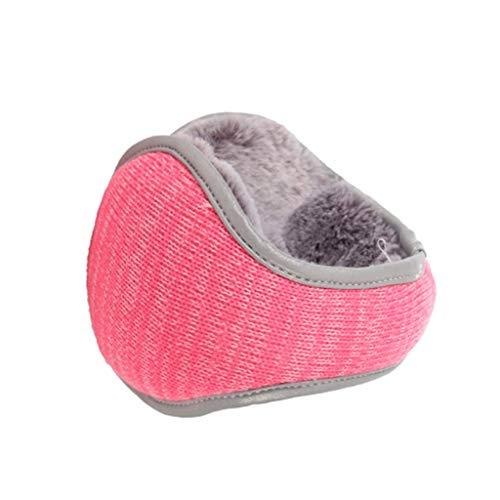 ZHIHUI Algodón Orejeras de Felpa para Mujeres Calentadores para Oídos Orejeras Frío Suave Nuestro Oído Durable Más Caliente Diadema Acompañará por Mucho Tiempo Deporte (Color : Pink)