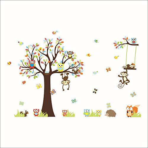 Adhesivos decorativos decorativos para habitación de niños, diseño de dibujos animados de PVC y decoración de pared