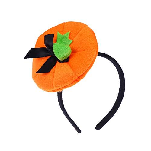 Happyyami diadema de sombrero de calabaza diadema de halloween favor de fiesta de halloween (naranja)