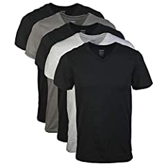 Colors may vary Moisture wicking: Keeps you cool and dry Taped neck and shoulders for durability Tubular rib collar for better stretch and recovery Lays flat Feels soft to the touch Tag free 5 pack = SM XL; 4 pack = 2X