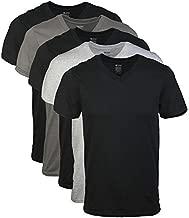Gildan Men's V-Neck T-Shirts, Multipack, Assorted (5-Pack), Medium