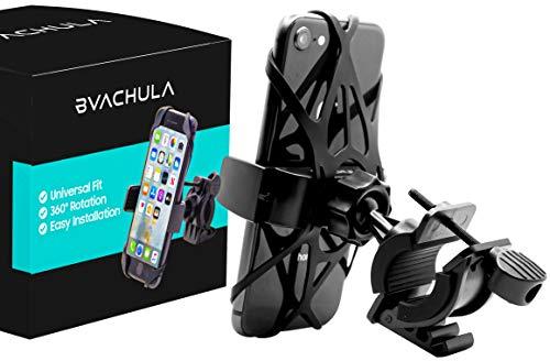 Bvachula Universal Premium Bike Phone Mount: iPhone 11 PRO Max 5/6/7/8/X/XR/XS Plus, Samsung S5/S6/S7/S8/S9/S10/S20 Edge, LG. Motorcycle, Mountain Bike Mount. Bicycle Phone Mount. Bike Accessories