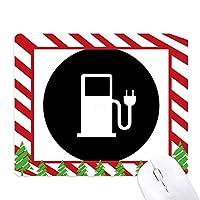 チャリング駅エネルギー自動車の環境を保護する ゴムクリスマスキャンディマウスパッド