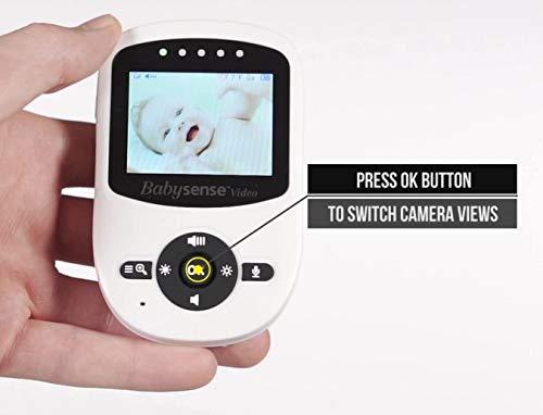 Babysense Video Baby Monitor with 2 Digital Cameras, LCD Display, Infrared Night Vision, 2 Way Talk, Room Temperature, Lullabies, Long Range