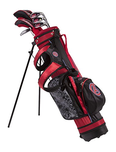 Marvel Maleavengers Junior Golf Set 6-8 Years, Driver, 4 Hybrid, 7 Iron, SW, Putter, Stand...