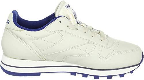 Reebok Reebok Damen Classic Lthr 28413 Sneaker, Beige (Ecru/NAV), 35.5 EU