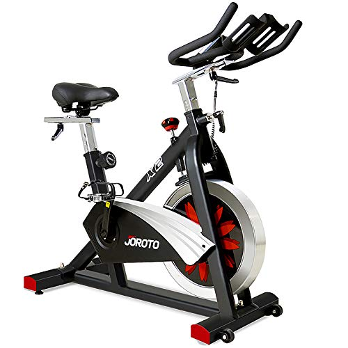JOROTO Belt Drive Indoor Cycling Bike with Magnetic Resistance Exercise Bikes Stationary ( 300 Lbs Weight Capacity ) (Updated) by JOROTO
