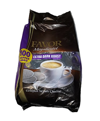 Favor Megabeutel Extra Dunkle Röstung Kaffeepads 100St.