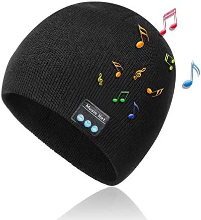 Bluetooth Beanie Hat Wireless Bluetooth Music Hat Winter Knitted Bluetooth 5 0 Stereo Unisex product image