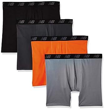 New Balance Men s Standard Boxer Brief Black/Dynomite/Steel/Orca Medium