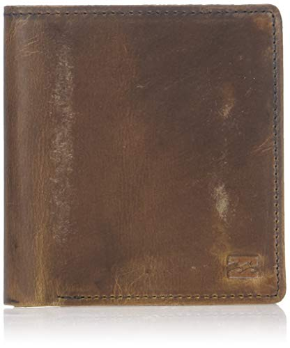 Billabong Men's Gaviotas Leather Wallet, Brown, ONE