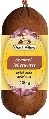 Grützwurst & Semmelleberwurst Omas Pfanne | DDR Rezeptur Tiegelwurst | Black Pudding | laktosefrei Semmelwurst 400g