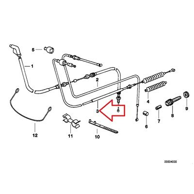 bmw r 1100 wiring diagram amazon com bmw genuine clutch bowden cable r1100gs r1100r r850  bmw genuine clutch bowden cable r1100gs