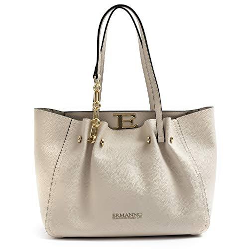 Borsa shopping Ermanno Scervino Giovanna color crema - 12401145 CRE -...