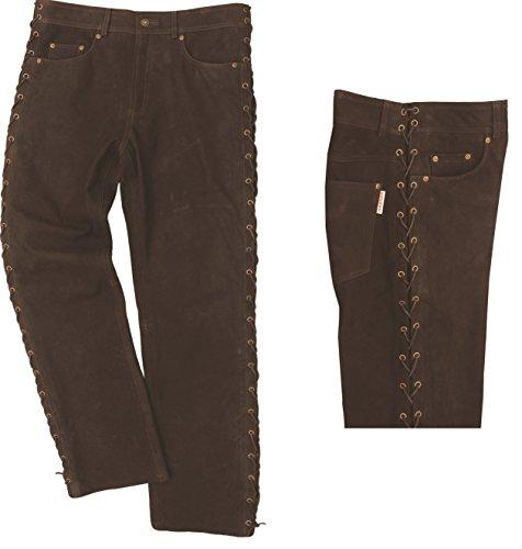 Lederprofi - Pantalón - Pantalones Boot Cut - para Hombre marrón 30W x 34L (75-77 cm)