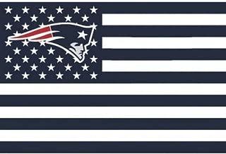 NFL New England Patriots Stars and Stripes Flag Banner   3x5 FT, White
