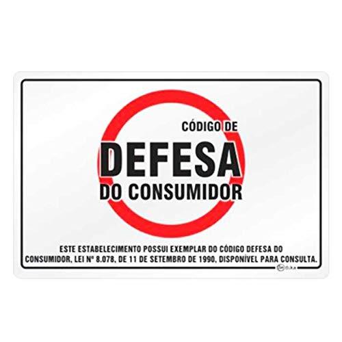 Placa de Sinalização Alumínio 16x25cm Código de Defesa do Consumidor C25047 Indika