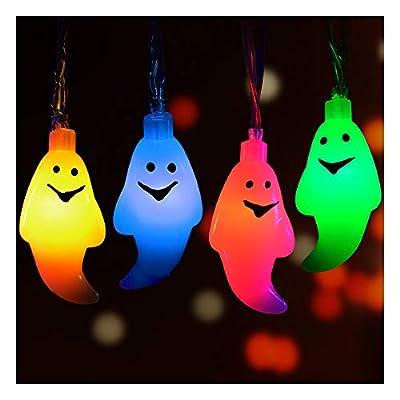 Halloween String Lights, Halloween Light Decoration by Calans 10 Feet Pumpkin Light 30 LED String Lights Jack o Lantern Indoor Outdoor Halloween Parties Decorations Series