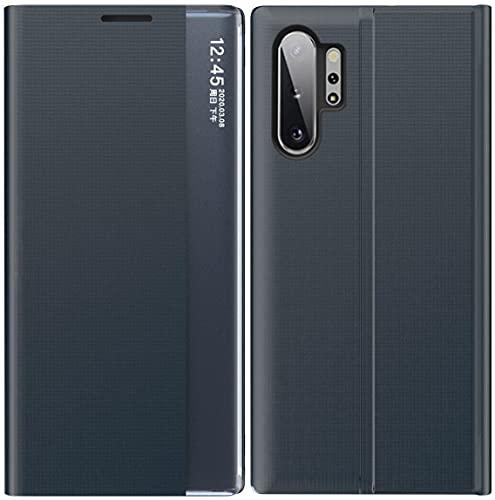 Mking Tech Funda de Cuero Inteligente de Alta Gama para Samsung Galaxy Note 10+[10 Plus]. A42/11/12/ Redmi Note 8 T/F2/NORD /A72/A52. Voltear/Suspender/Activar/Cubierta de Cuero -Azul