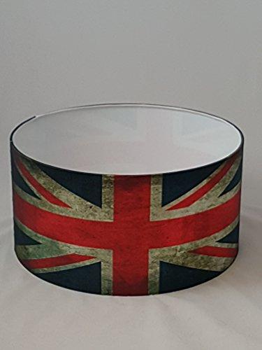 Tophouse Design Lampenschirm, handgefertigt, ca.33cm Durchmesser, Union Jack-Design