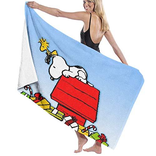SJPillowcover Snoopy - Toalla de baño supersuave absorbente para playa, piscina, camping, deportes, etc. Talla única