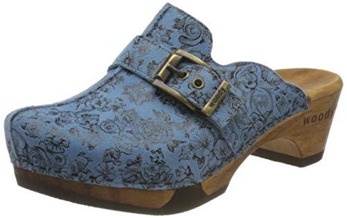 Woody Damen Florentina Clogs, Blau (Capri 084), 40 EU