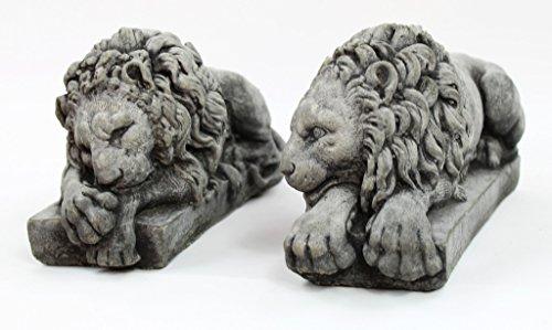 Fleur de Lis Garden Ornaments LLC Vatican Lions Pair Concrete Statues