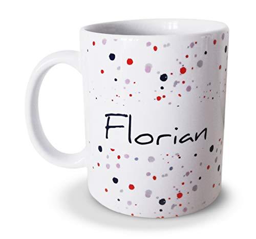 tassenprinter Namens-Tasse 300ml Keramik weiß personalisiert Flecken Kaffee-Tasse mit Namen persönliche Geschenk Idee - Spülmaschinenfest