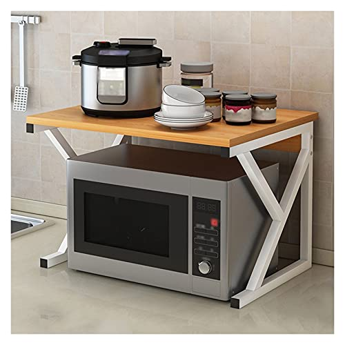 Estantería de Cocina Microondas de 2 niveles Microondas Microondas Estantería Unidad de estante UTILIDAD DE COCINA MANTENAMIENTO Estante Organizador para horno de microondas, etc. Dos colores Carrito