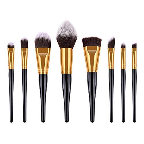 8 PCS Blending poignée en bois haut de gamme Fond de teint Sourcils Eyeliner fard à joues Brosses cosmétiques Correcteur Pinceaux Outils Matériel fiable (Handle Color : As shown)