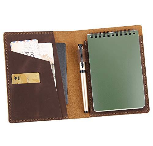Ledereinband, kompatibel mit Rite in the Rain-Notizbüchern, mit Spiralbindung, Ledereinband für 10,2 x 15,2 cm, Braun