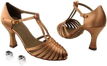 Ladies Women Ballroom Dance Shoes Very Fine EKS9177 Signature with Heel Protectors 2.5