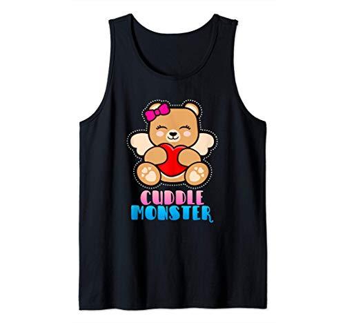 Cuddle Monster | Teddy Bär mit Herz | Kuschel Tier Humor Tank Top