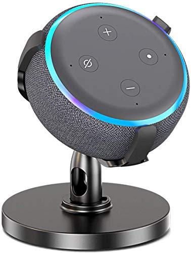 Bovon Supporto da Tavolo per Smart Home Speaker, Supporto da Tavolo Regolabile a 360° Supporto da Tavolo, Accessori Intelligenti Migliorano la Comunicazione con Home Voice
