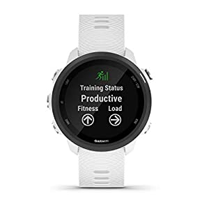Garmin Forerunner 245 Music (White) Power Bundle | +HD Screen Protectors & PlayBetter Portable Charger | Advanced Analytics, Heart Rate | Running GPS Watch | 010-02120-21