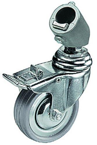 Manfrotto 110 Set 3 Ruote con Freno e Adattatore, 75 mm,...
