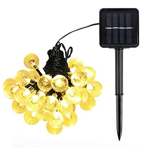 No-Branded Floor lamp LED Crystal Ball 5M/7M Solar Lamp LED Light String Fairy Lights Solar Garlands Garden Christmas Decor for Outdoor TATcuican (Color : Yellow, Size : One Size)