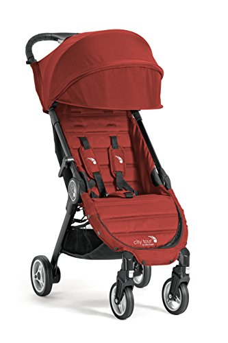 Baby Jogger City Tour Stroller | Compact Travel Stroller | Lightweight Baby Stroller with Backpack-Style Carry Bag, Perfect for Travel, Garnet